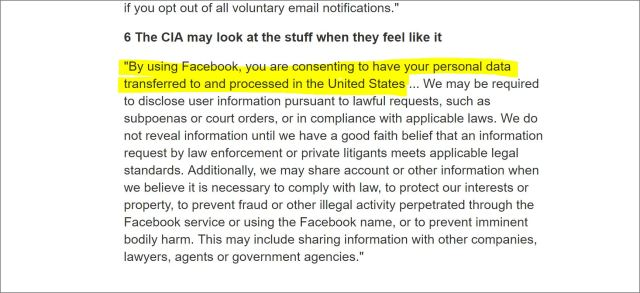 FACEBOOK-CIA-UNITED STATES-PERMISSION-ACCESS