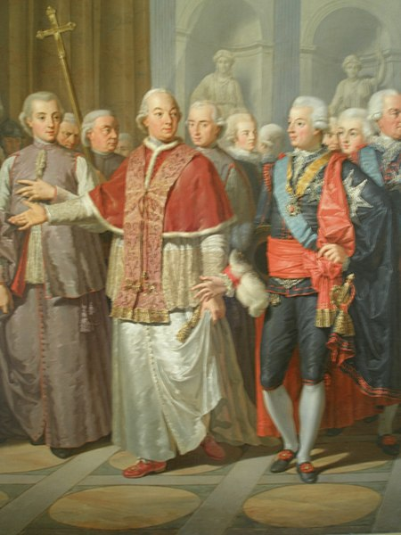 pope pius with royalty