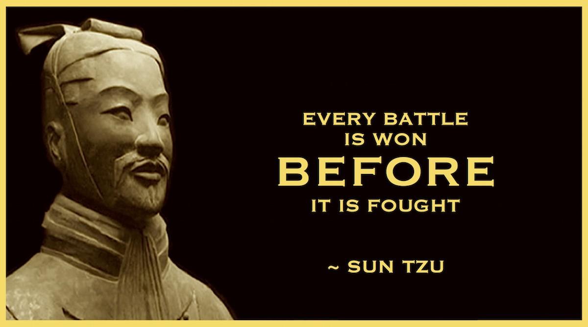 Sun Tzu (Wikipedia : https://en.wikipedia.org/wiki/Sun_Tzu)